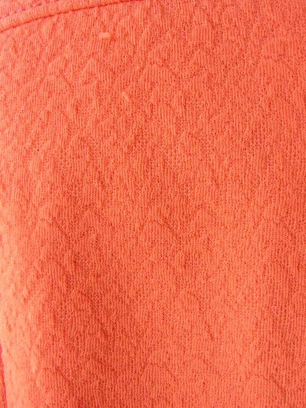 ヨーロッパ古着 ロンドン買い付け 60年代製 オレンジ X 模様の浮かび上がる生地 ベルト付き レトロ ワンピース 15OM404