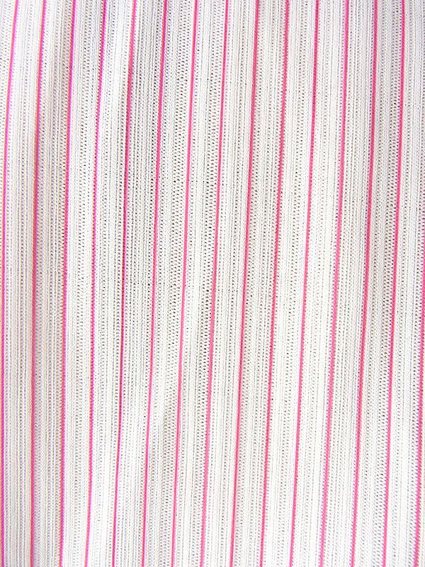 ヨーロッパ古着 フランス買い付け ホワイト X ピンク・ホワイト ピンストライプ セーラーカラー ワンピース 16FC314