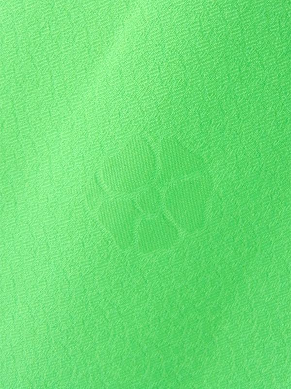 ヨーロッパ古着 ロンドン買い付け ライムグリーン 花柄が浮かぶ生地  レトロ ワンピース 16OM604