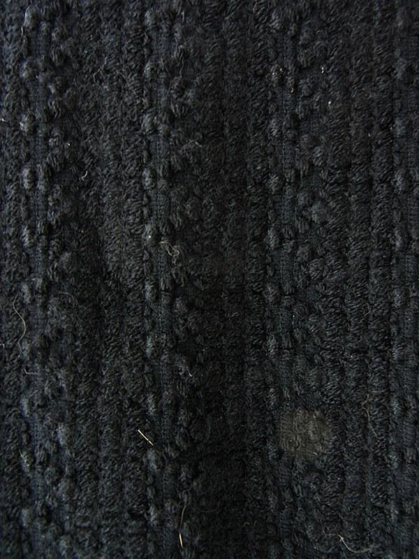 ヨーロッパ古着 70年代イギリス製 ブラック X 花柄プリント キルティング 生地切り返し マキシワンピース