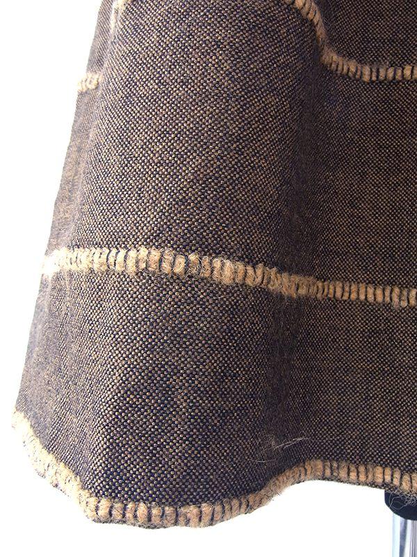 ヨーロッパ古着 ロンドン買い付け 60年代製 ダークブラウン 共布ベルト付き ヴィンテージ ウール ツイード ワンピース 17OM101