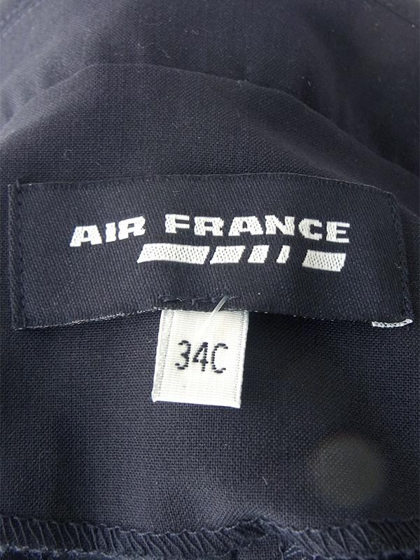 ヨーロッパ古着 Air France CAユニフォーム ブラック X 比翼仕立て ワンピース 17OM500