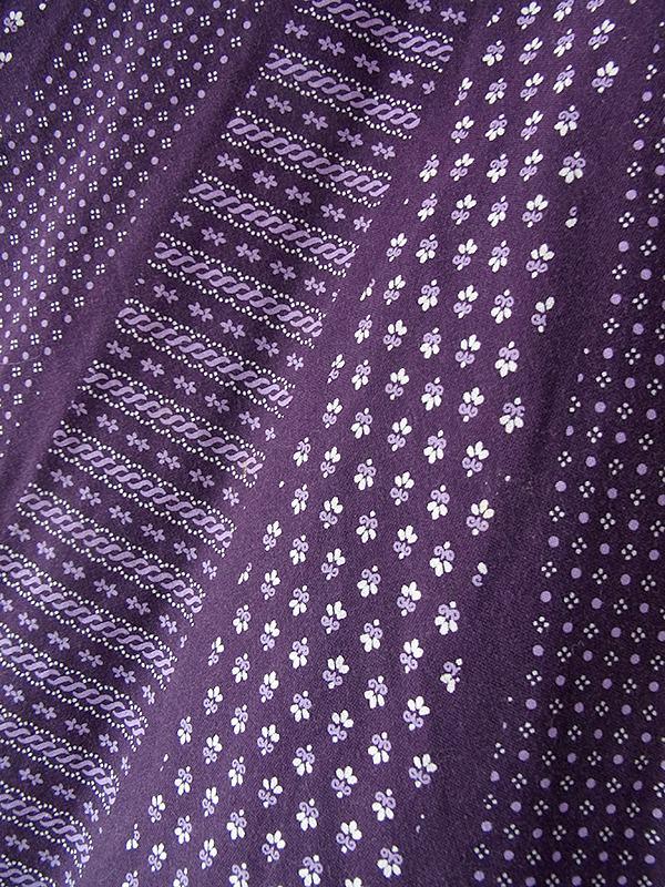 ヨーロッパ古着 ロンドン買い付け 60年代製 パープル X レトロ柄 山道テープ・レーステープ サーキュラー スカート 18BS030