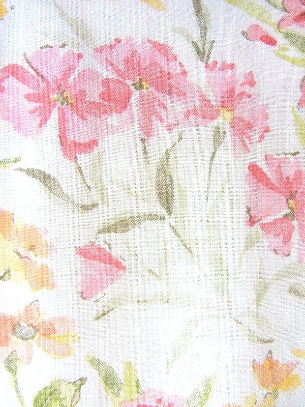 ヨーロッパ古着 フランス買い付け 60年代製 オフホワイト X パステルカラー 花柄 ふんわりシルエット ワンピース 18FC306