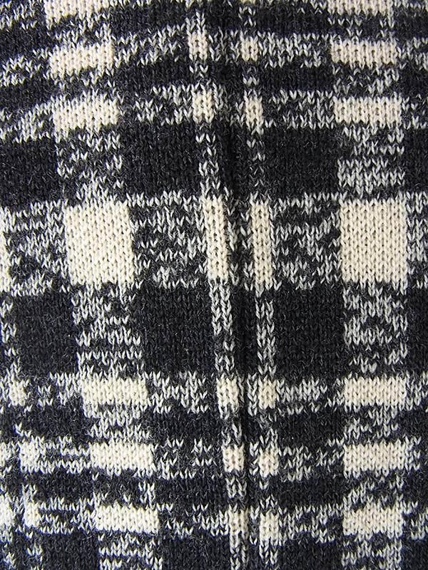 ヨーロッパ古着 60年代イタリア製 ベージュ X ブラック チェック柄 ウール チェスター コート 18SR102