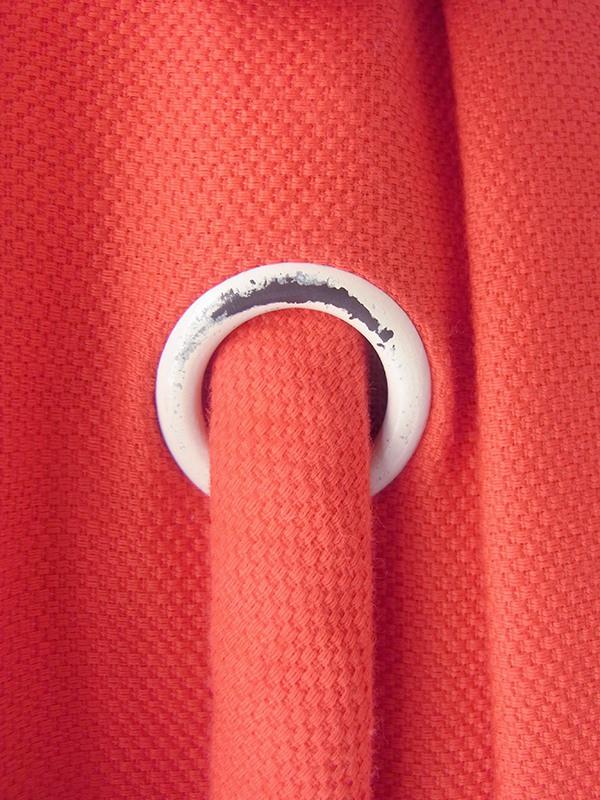ヨーロッパ古着 ロンドン買い付け 60年代製 レッド X コサージュ付きロープ レース裾 ヴィンテージ ワンピース 19BS100