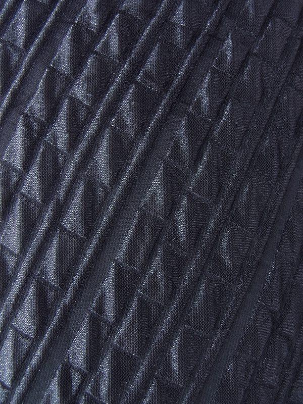 ヨーロッパ古着 ロンドン買い付け 70年代製 ブラック X ホワイト スパンコール襟 大きなスリット ヴィンテージ ワンピース 19OM1002