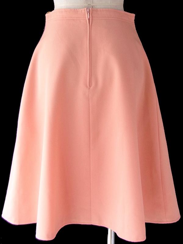 ヨーロッパ古着 ロンドン買い付け 60年代製 アプリコット X ステッチデザイン ヴィンテージ スカート 19OM125