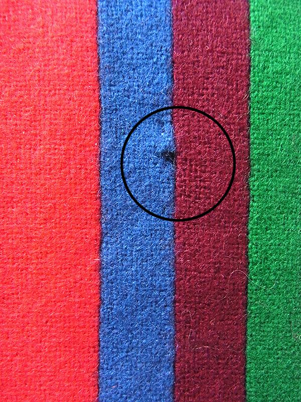 【ヨーロッパ古着】イギリス製 カラフル ストライプ ウール スクール マフラー 20BS063【おとなかわいい】