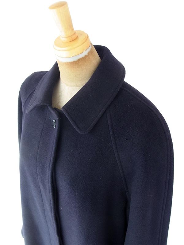 ヨーロッパ古着 ロンドン買い付け Burberry's PRORSUM バーバリー ネイビー X 厚手 カシミア混ウール コート 20BS201