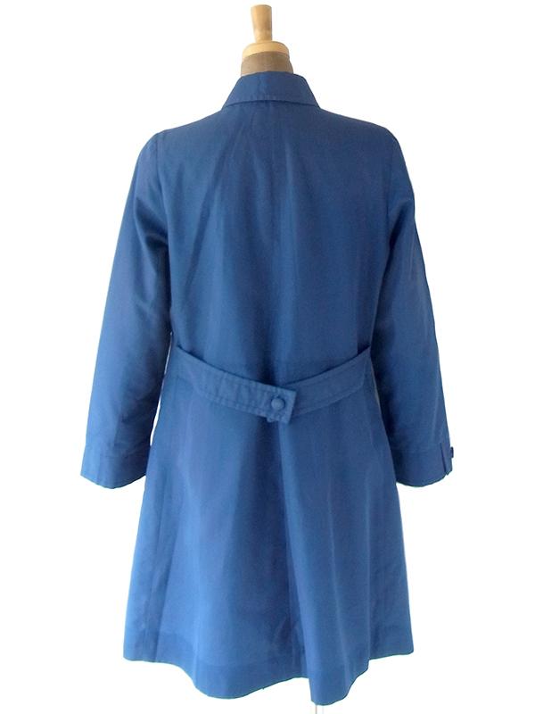 ヨーロッパ古着 70年代イギリス製 St.Michael ロイヤルブルー X Aライン コート 20BS203