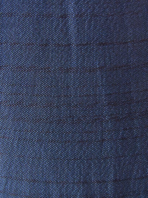 ヨーロッパ古着 フランス買い付け 70年代製 光沢のあるネイビー シャンタン織り生地  X ホワイトレース襟 ワンピース 20FC108